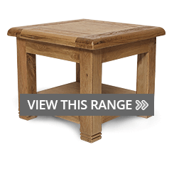 Oak Lamp & End Tables