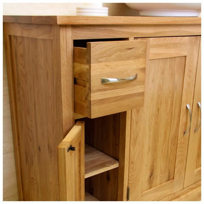 prestige solid oak bathroom furniture vanity click oak