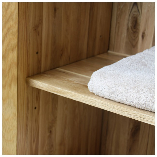 Prestige Solid Oak Bathroom Furniture Vanity   Oak