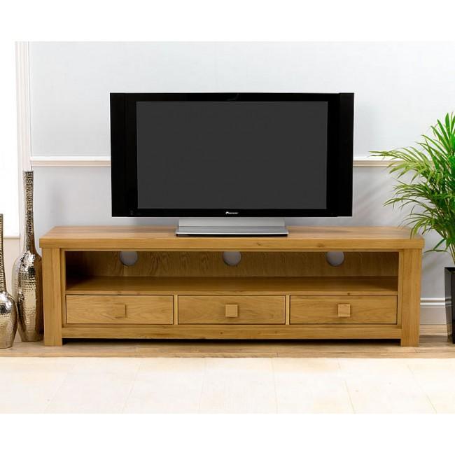 barcelona solid oak plasma tv stand click oak. Black Bedroom Furniture Sets. Home Design Ideas