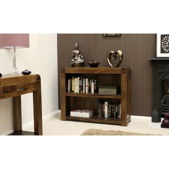 Shiro Furniture Walnut Half Bookcase Click Oak