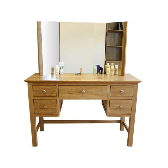 Glenmore Solid Oak Dressing Table Set Click Oak : colight 311 5 from www.clickoak.co.uk size 650 x 650 jpeg 40kB