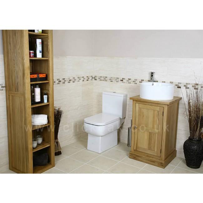 Solid Light Oak Bathroom Vanity Unit Cube Click Oak