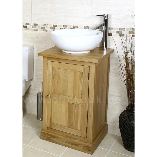 Vanity Units Light Oak : Solid Light Oak Bathroom Vanity Unit Cube Click Oak
