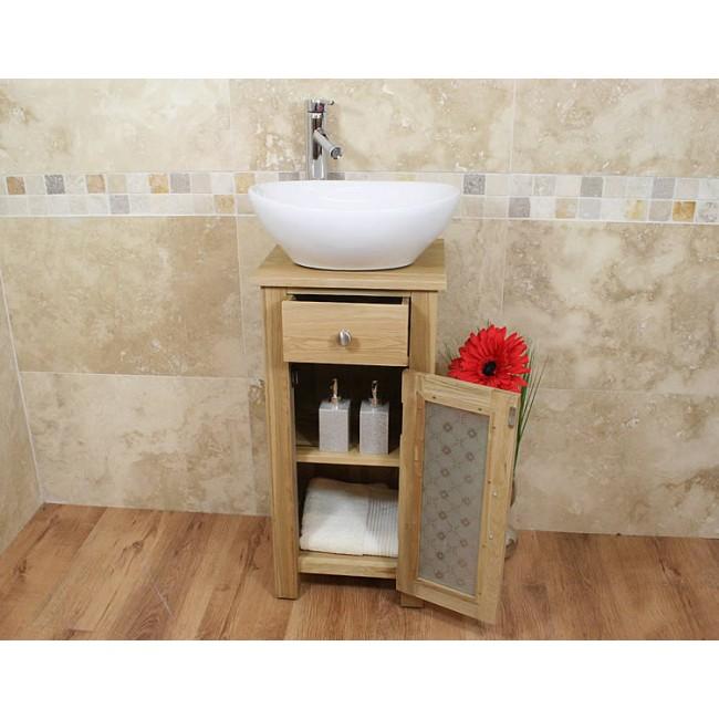 small oak bathroom vanity sink unit set click oak