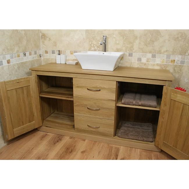 Mobel light oak bathroom vanity sink unit click oak - Light oak bathroom vanity units ...