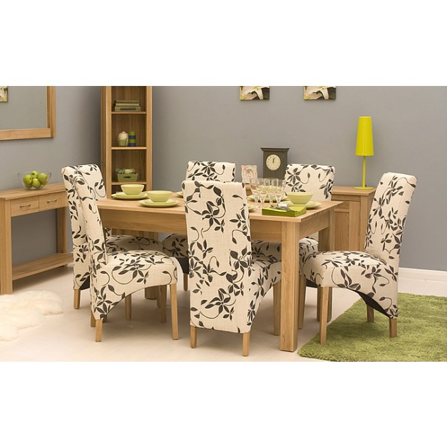 mobel light oak dining room 6 seater set click oak