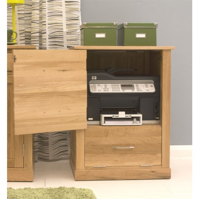 Mobel Oak Home Office Printer Storage Unit Click Oak