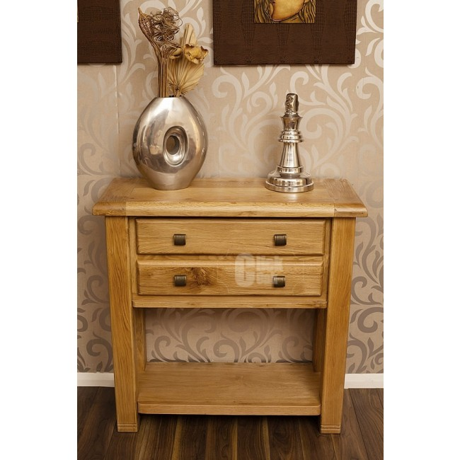 Danube Weathered Oak Small Console Table Click Oak