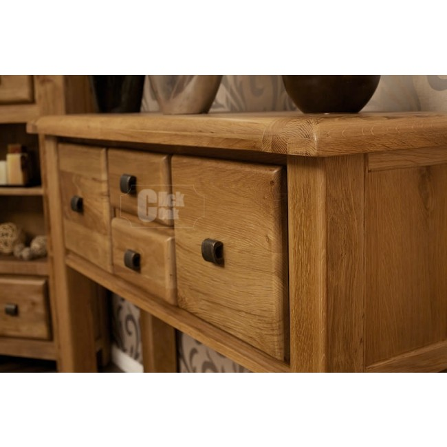 Danube Weathered Oak Hall Table Click Oak