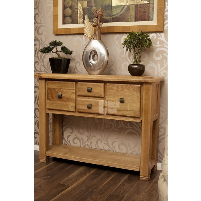 Oak Hall Table ~ Danube weathered oak hall table click