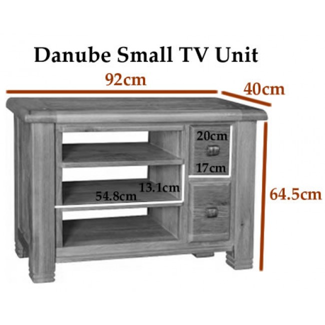 Danube Weathered Oak pact TV Stand