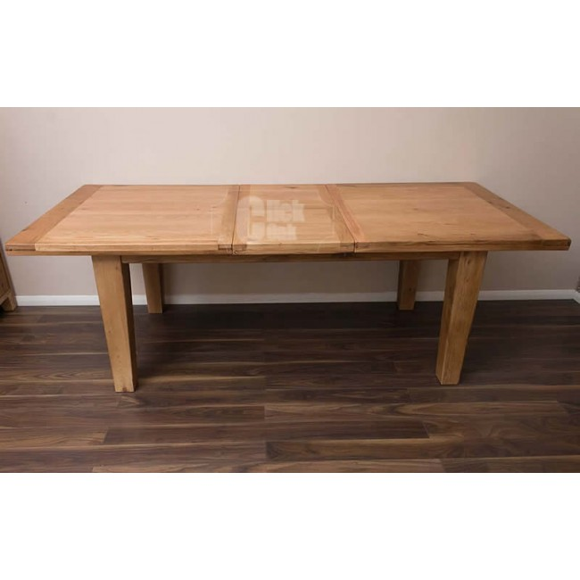 Rustic Oak Large Extending Dining Room Table And Chairs Click Oak
