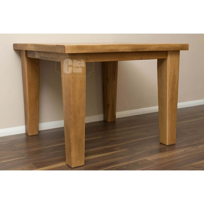 Rustic Oak Square Dining Room Table And Chairs Click Oak