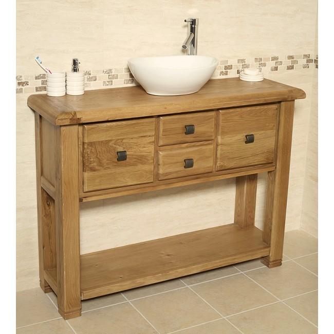 ohio rustic oak bathroom cabinet click oak