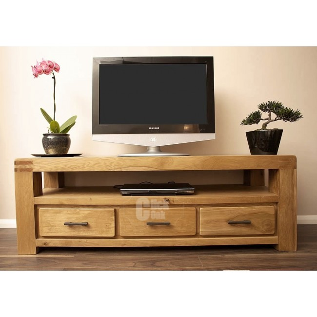 Oslo oak rustic oak large tv stand cabinet click oak Rustic tv stands
