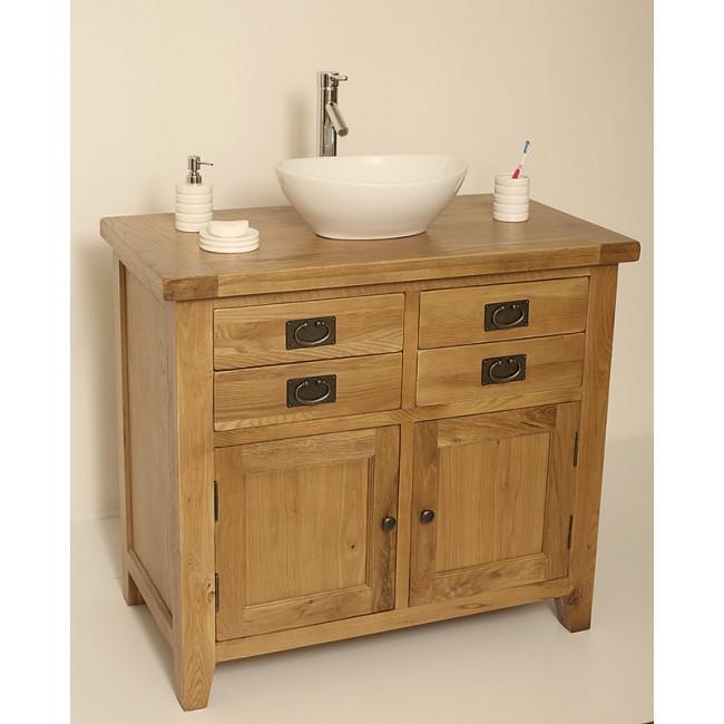 free standing valencia rustic oak vanity unit click oak Small Rustic Bathroom Vanity rustic oak bathroom vanity