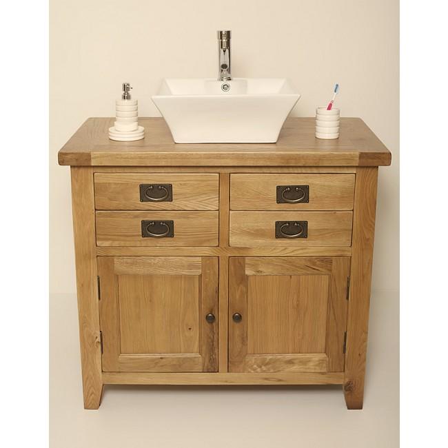 Valencia Rustic Oak Bathroom Vanity. Free Standing Valencia Rustic Oak Vanity Unit   Click Oak