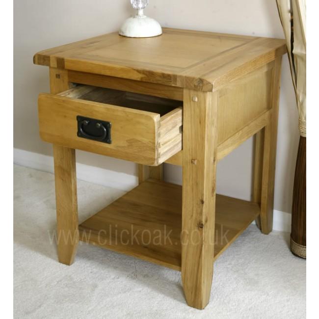 Westbury Rustic Oak Lamp End Coffee Table Click Oak