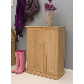 Mobel Oak Shoe Cupboard Storage