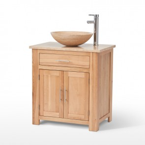 502 Vanity Unit with Travertine Top & Bowl