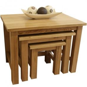 Glenmore Oak Nest of Tables