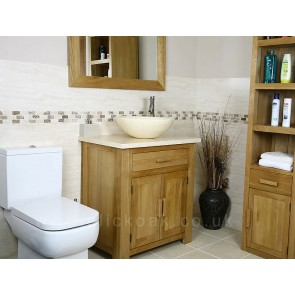 Solid Oak Bathroom Vanity Sink