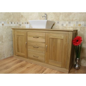 Mobel Light Oak Bathroom Vanity Sink Unit