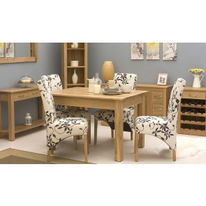 Mobel Light Oak Dining Table Set
