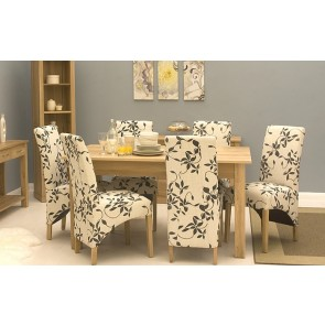 Oak Dining Room Furniture Set 4 to 6 Seater