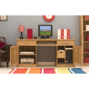 Large Light Oak Mobel Pc Workstation