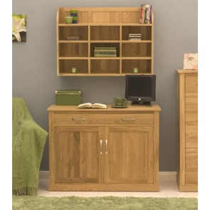 Mobel Wall Mounted Oak Storage Unit