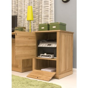 Compact Oak Printer Storage Unit