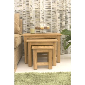 Mobel Oak Nest Of Tables Set