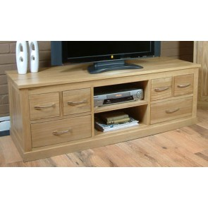 Mobel Oak Widescreen Lcd Plasma TV Stand Cabinet