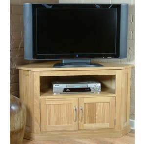 Mobel Oak Widescreen Corner Lcd Plasma Tv Stand Cabinet