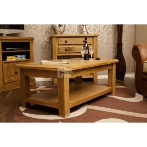 Danube Weathered Oak Rectangular Coffee Table