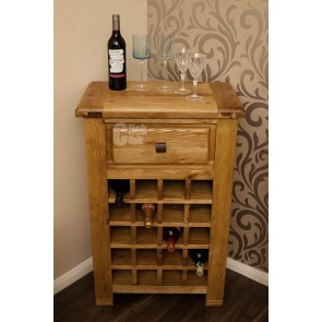 Danube Weathered Oak Wine Storage Unit