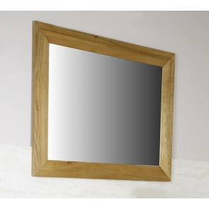 Solid Light Oak Mirror