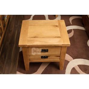 Vancoover Rustic Oak End Table