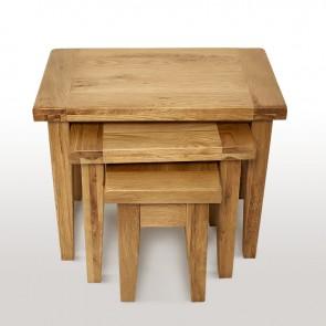 Rustic Oak Nest Of Tables - CO-Vanva013