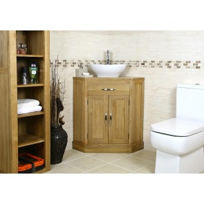 Cube Corner Bathroom Vanity Unit