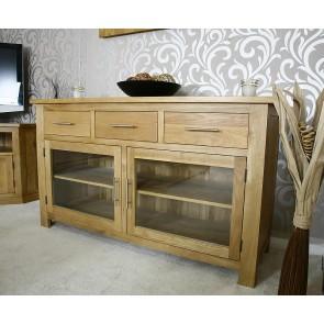 Delamere Glazed Oak Sideboard - 1140