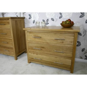 Delamere Solid Light Oak Chest Of Drawers