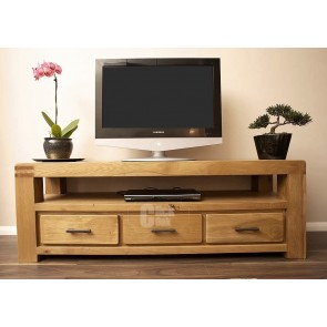 Olso Rustic Oak Large Tv Cabinet Stand