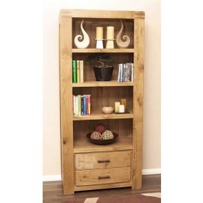 Olso Rustic Oak Tall Bookcase