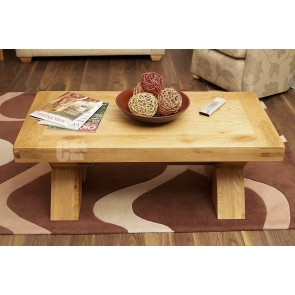 Oslo Rustic Oak Crossed Coffee Table