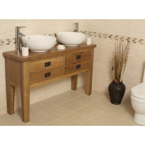 Valencia Double Oak Vanity Unit