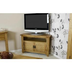 Westbury Rustic Oak Corner TV Stand