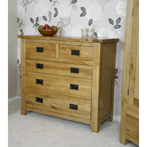 Westbury Rustic Oak Chest of Drawers